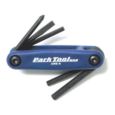 Park Tool AWS9C Fold-Up Hex Wrench and Screwdriver Set