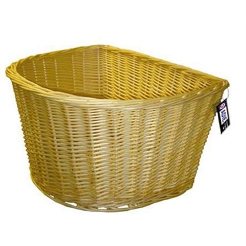 "Adie 18"" D-Shaped Wicker Front Basket"