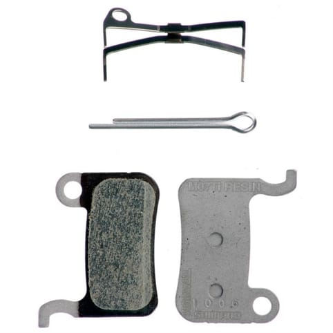 Shimano M07Ti Titanium Backed and Resin Disc Brake Pads and Spring