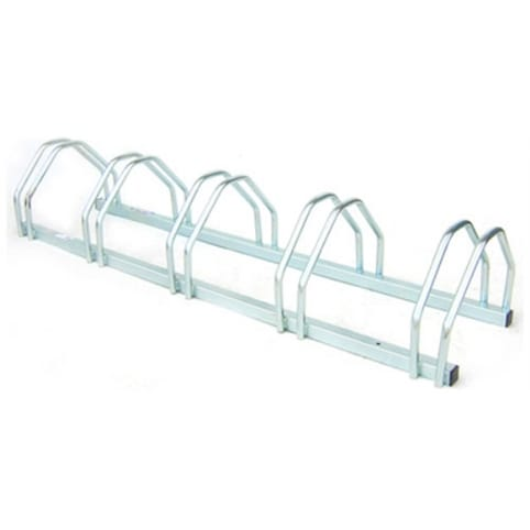 Mottez Floor Mounted Cycle Rack for 5 Bikes