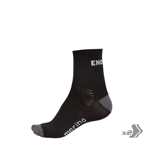 ENDURA BAABAA MERINO SOCK (TWIN PACK) *