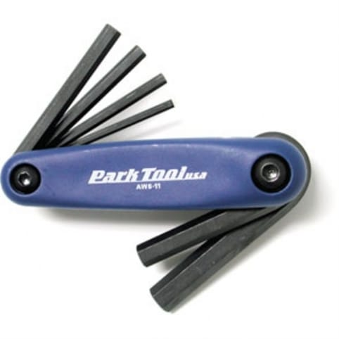 Park Tool Fold-Up Hex Wrench Set: 3 to 6, 8 and 10mm