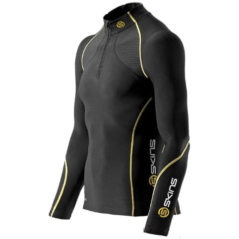 Skins A200 Thermal Long Sleeve Compression Top with Zip