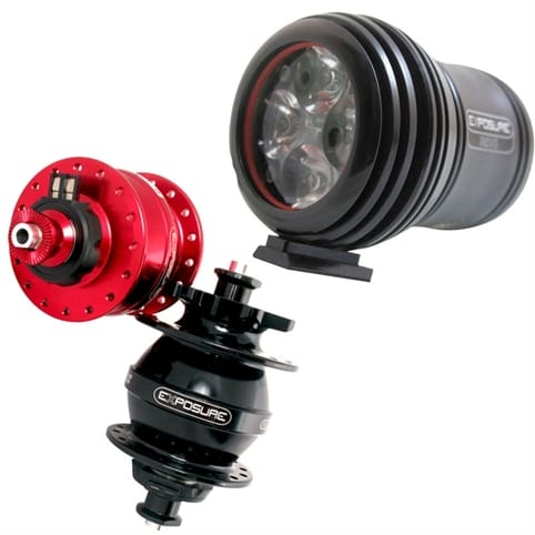 Exposure Revo Mk1 Dynamo Bike Light and USE Hub Pack