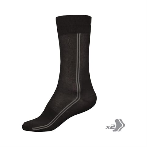 ENDURA COOLMAX LONG SOCK [TWIN PACK]