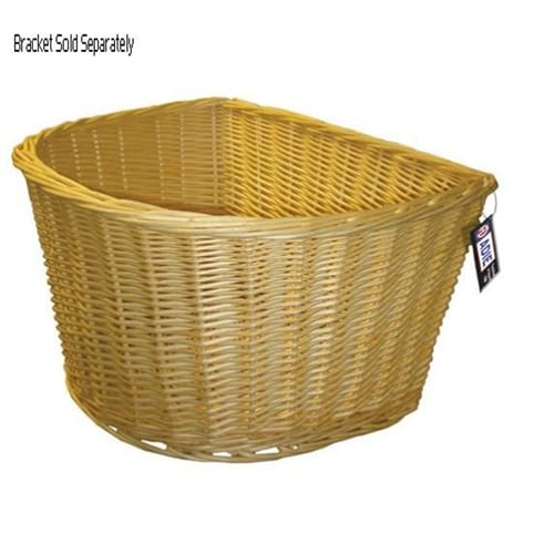 "Adie 16"" D-Shaped Wicker Front Basket"