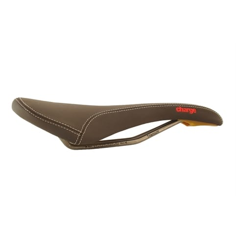 Charge Spoon Leather Saddle With Titanium Rails