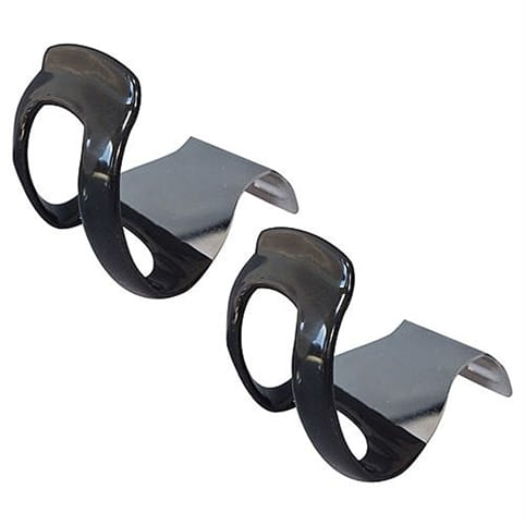 MKS Plastic Coated Quarter Toe Clips