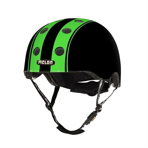 Melon Double Green Black Matt Skate Helmet