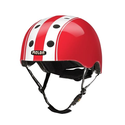 Melon Double White Red Skate Helmet