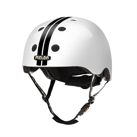 Melon Straight Black White Skate Helmet