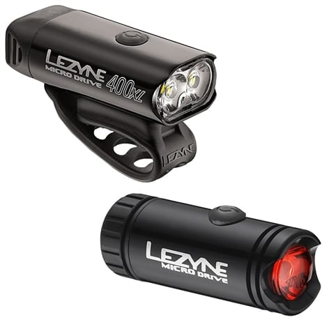 Lezyne Micro Drive 400XL Front & Micro Rear Lightset