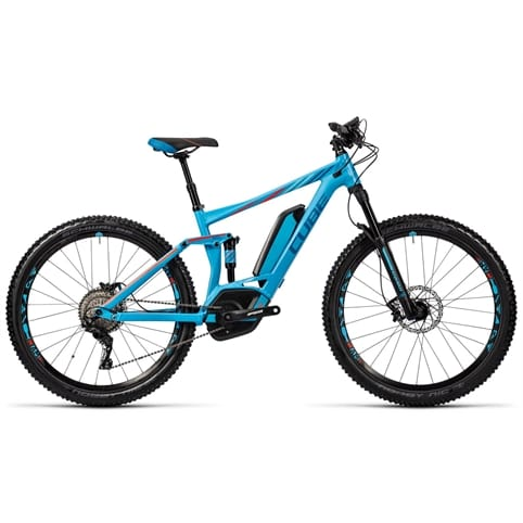 "Cube Sting WLS Hybrid 120 SL 500 27.5"" FS Electric MTB Bike 2016"