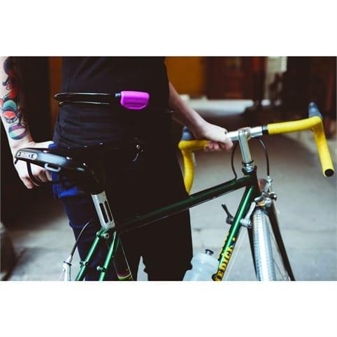 Black HIPLOK POP Wearable 1.3m Bicycle Cable Lock