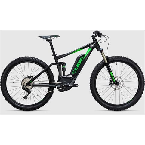 Cube STEREO HYBRID 120 HPA Race 500 27.5+ FULL SUSPENSION E-BIKE 2017