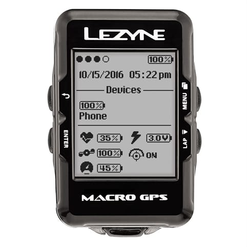 LEZYNE MACRO GPS LOADED BUNDLE