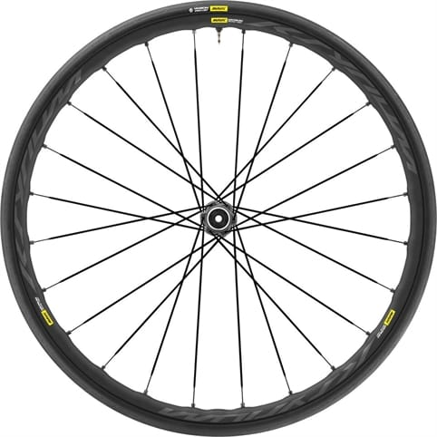 MAVIC KSYRIUM ELITE UST DISC CENTRE LOCK CLINCHER FRONT WHEEL 2018