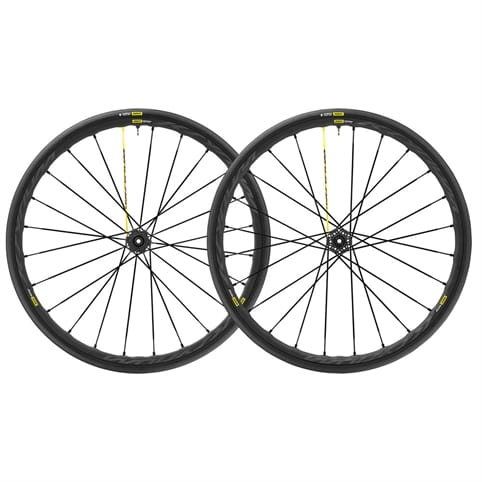 MAVIC KSYRIUM PRO UST DISC 6 BOLT CLINCHER FRONT WHEEL 2018