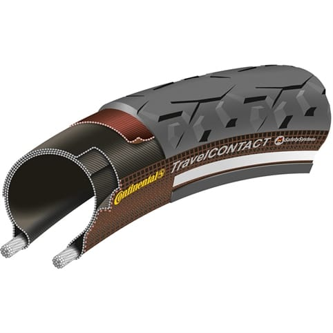 CONTINENTAL TRAVEL CONTACT REFLEX WIRE TYRE
