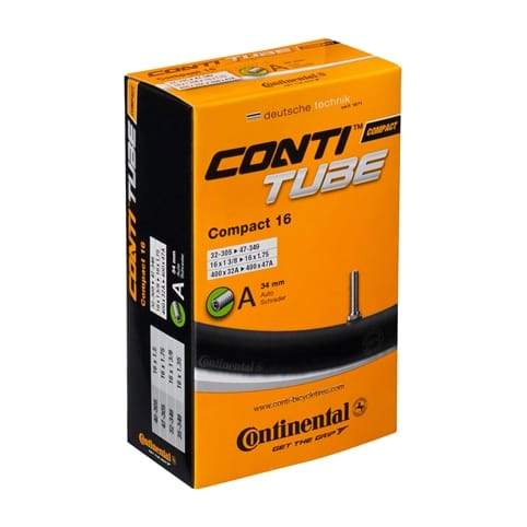 CONTINENTAL COMPACT WIDE 16 x 1.9 - 2.5 INCH SCHRADER VALVE INNER TUBE