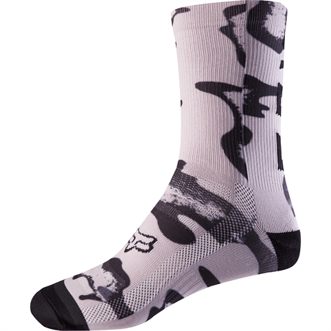 FOX WOMENS 8 INCH PRINT TRAIL SOCKS