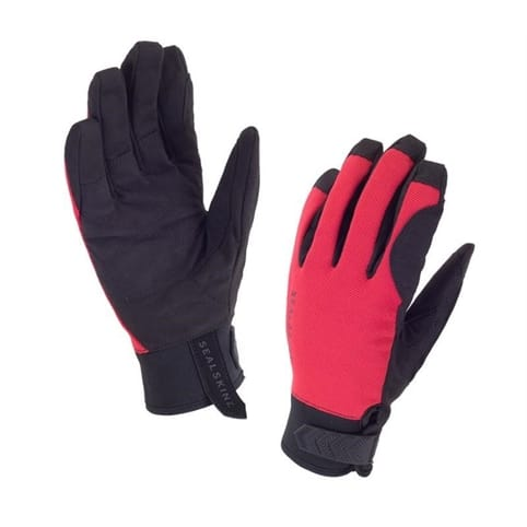 SEALSKINZ DRAGON EYE ROAD GLOVE [BLACK/RED]