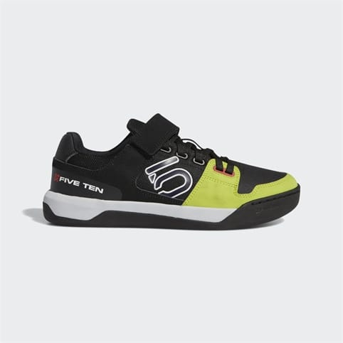 FIVE TEN HELLCAT MENS MOUNTAIN BIKE SHOE [BLACK/WHITE/SOLAR YELLOW]