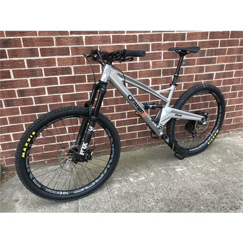 ORANGE FIVE PRO 650b FS MTB BIKE 2019 [STERLING SILVER]