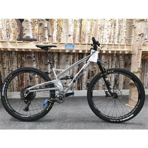ORANGE STAGE 4 PRO 29 FS MTB BIKE 2019 [CUSTOM COLOUR STERLING SILVER]