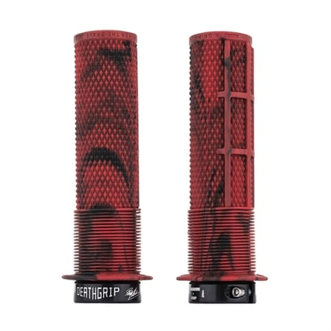DMR BRENDOG DEATHGRIP MARBLE RED LOCK-ON-GRIPS *