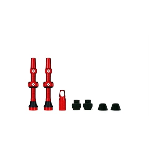 MUC-OFF RED TUBELESS PRESTA VALVE (PAIR) *