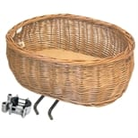 Basil Wicker Front Dog Basket