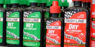 Lubrication - Whether you're riding your bike to and from work every day or using it for muddy, dirtier endeavours, you're going to need to clean it, degrease and lube it up on a regular basis. And it takes a little more work that just oiling your chain. We have a great range of oils and aerosols which will extend the life of your chain and gears. We've also got an extensive stock of lubricants, cleaners and sprays to keep your bike in first-class condition.