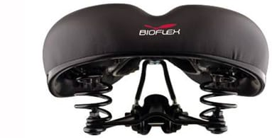 Bioflex - Bioflex Saddles are designed in the UK and made by World Renowned Saddle Maker Velo, they have a great value range of saddles developed to optimise cycling comfort using the latest technology available. Bioflex saddles incorporate patented ShockLite suspension in a series of designs which also feature reflective rear panels, Ozone 'cut-out' bases, Gel inserts, anatomic cushioning and scuff resistant side panels.