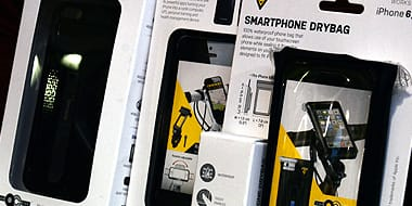 Phone Mounts & Cases - A range of protective cases, coverings and bags for smartphones and other personal digital devices. Choose from rugged hard rubber outer phone cases for everyday use and protection to padded neoprene bags for safe and secure on-bike storage of personal electronics.