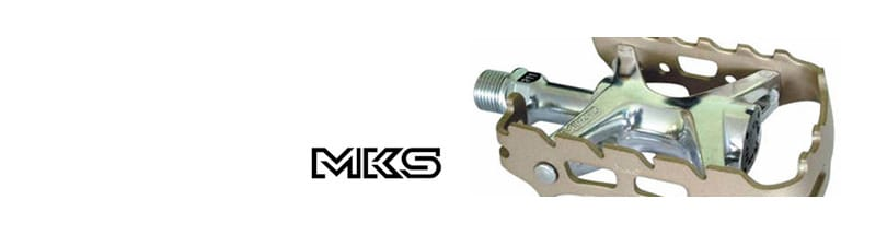 MKS - MKS is Japan's major manufacturer of traditional pedals and cycle accessories. MKS products are made to a very high standard, as proven by the NJS/Keirin approved mark found on some of their products. MKS products are made to be used, will last well and prove a worthwhile investment.