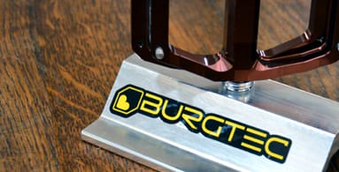 Burgtec - Burgtec was born out of their passion/obsession for downhill racing. As their strap line says - it's a labour of love. The hours that they have collectively spent working and developing Burgtec, doesn't even bear thinking about. Burgtec is famous for their Penthouse Pedals, which are engineered and built here in the UK along with their other excellent quality products.