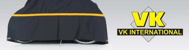 VK International - VK International has been manufacturing reliable bicycle accessories since 1982. VK products are used daily by professional customers, professional cyclists and recreational cyclists. Its range includes cycle pajamas for outside protection and the VK Strongbox for transporting bikes.