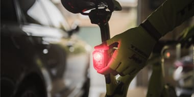 Rear - A working red rear light will ensure you are visible to other road users in low-light conditions. This is essential for on-road safety and in most countries, it's the law.