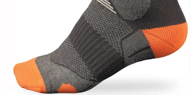Socks - Choose from an excellent range of cycling socks at All Terrain Cycles, suitable for running, walking, cycling and triathlon competitions.Prepare thoroughly for race or mountain, making sure that your comfort is assured. Whether you're looking for warm woollens, cutting-edge fabrics or specialised recovery socks, we're certain you'll agree that creating a range of cycling and sports socks of such a high quality was no mean feat.