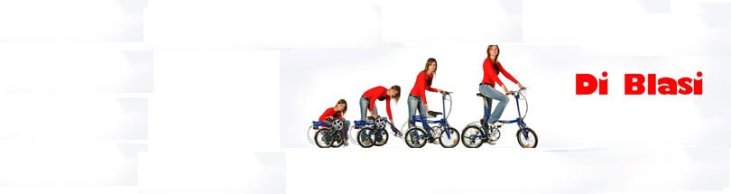 Di Blasi Folding - DI BLASI's folding tricycles offer a level of convenience and useability impossible with non-folding machines. Not only does the ability to fold make storage more practicable but it also means that Di Blasi tricycles have significantly increased versatility. The small folded size makes transportation in a car very easy.