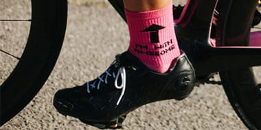 Socks - Cycling socks are a small but important item of clothing for any cyclist. Cycle socks will stop your feet getting too sweaty and uncomfortable and they will cushion your feet within your cycling shoes.