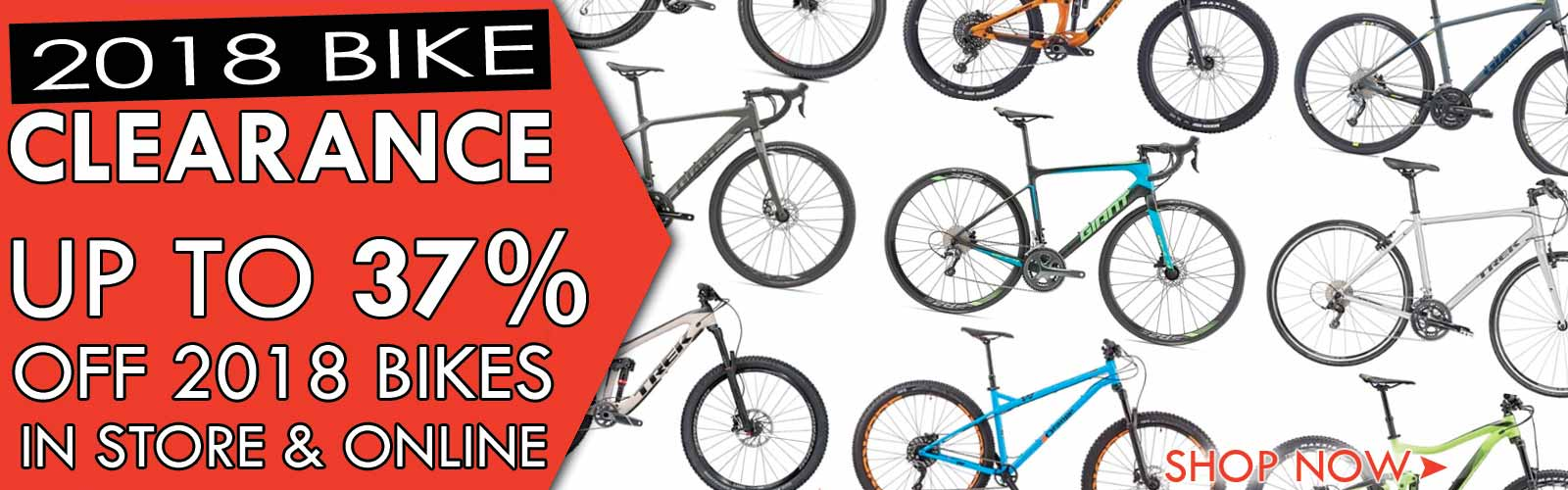 Clearance - up to 33% off 2018 bikes
