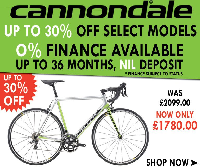 cannondale - up to 30% off
