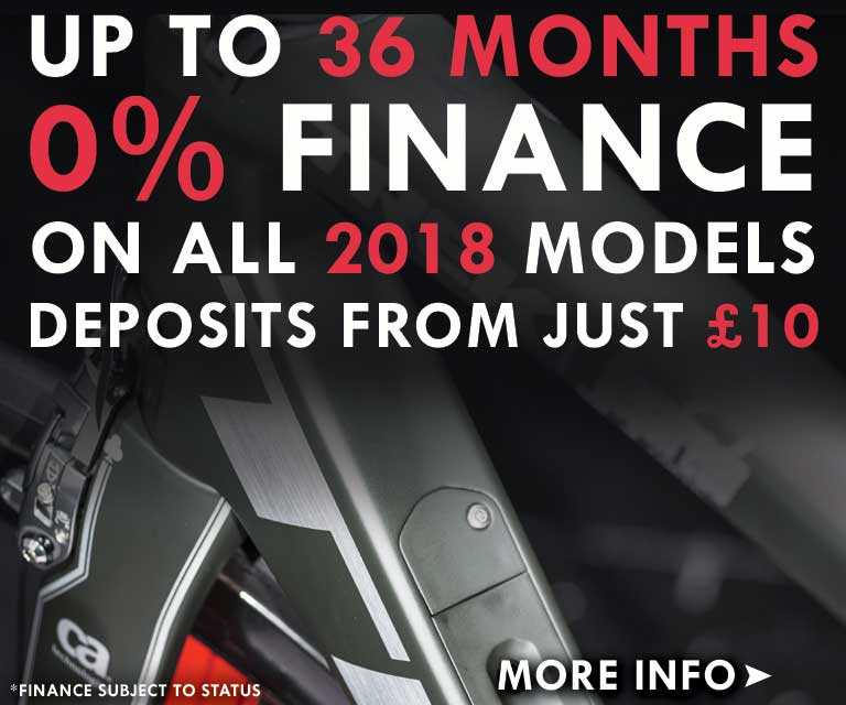 36 months 0% finance available on all 2018 models
